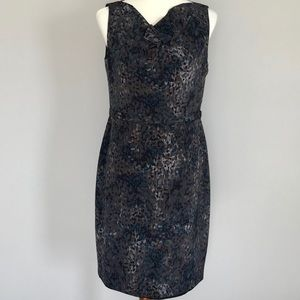 Elie Tahari Multi-Colored Leopard Print Dress